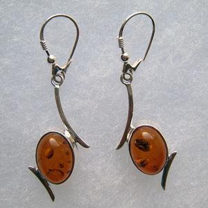 Ovales - bijou ambre et argent