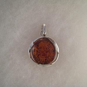 Pendentif boule cern e pendentifs bijou ambre et argent - Nettoyer chaine en argent ...