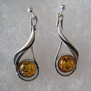 Rond ancien - bijou ambre et argent