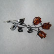 Broche rose triple