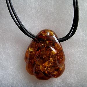 Collier Tanya - bijou ambre et argent