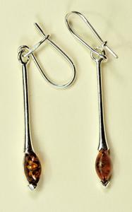 tiges mini navettes - bijou ambre et argent